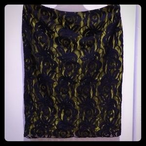 Paul Smith Lace Pencil Skirt